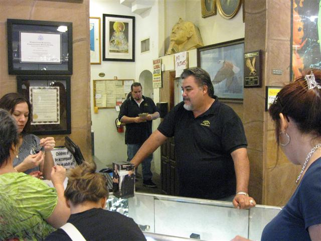 The Gold & Silver Pawn Shop has thirty staff members and operates 24